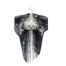 Aria lampa wisząca czarna 6x52W E27 + 1x100W E27