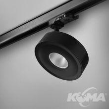 Qrled move track czarny struktura 8W LED 2700K 38° 230V
