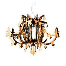 Ginetta lampa wisząca 1x10W E27 230V złota