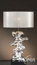 Libero silver lampa stołowa 1x60W E27 srebrny+ABAZUR LS1111