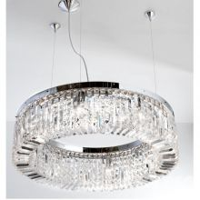 Ring lampa wisząca żyrandol 8x40W E14 230V transparentny/chrom