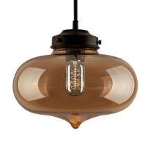 London lampa wisząca 1x40W E27 bursztynowa