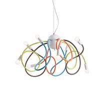 Multiflex lampa wisząca 8x40W E14 230V wielokolorowa