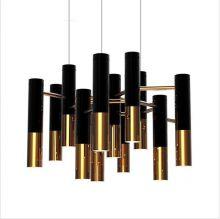 Golden pipe oprawa wisząca 13x20W G9 czarno-złota