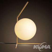 Solaris lampa stołowa 1x60W E27 stare złoto/biały klosz