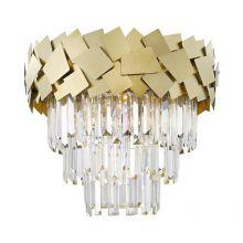 Quasar lampa sufitowa plafon złota 6x40W E14