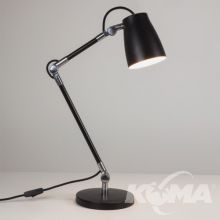Atelier lampa biurkowa na podstawie 1x28W E27 czarny