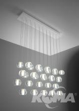 Multispot/beluga oprawa wisząca 30x3W LED 3000K biała