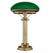 Decor lampa stołowa patyna 1x60W E27 klosz zielony