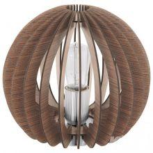Cossano lampka stołowa e27/60w brąz