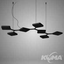Quad lampa wisząca 42W LED 230V biała
