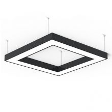 Alberta S-Light Square lampa wisząca 95cm 91,2W LED 230V czarna