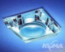 Faretto oprawka stropowa 1x50W gu5.3 transparentna z błękitnym środkiem