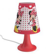 Minnie Mouse lampa stołowa dziecięca 2,3W LED 230V czerwono-biała