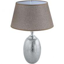 Sawtry lampka stołowa e27/60w brąz
