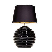 Saint Tropez lampa stołowa 1x60W E27 230V czarna / czarno-złoty abażur