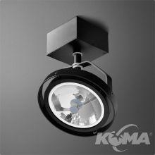 Ares reflektor czarny (mat) 1x50W AR111 230V