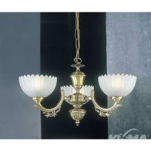 Bronzo lampa wisząca 3x60W E27 230V mosiądz