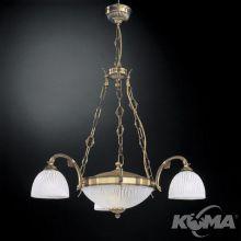 Argento lampa wisząca 3+2x60W E27 230V mosiądz