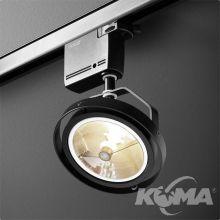 Ares reflektor na szynoprzewód czarny (mat) 1x50W AR111 230V
