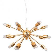 Theo lampa wisząca złota 18x40W e27 230V