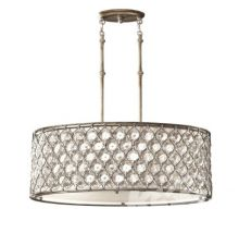 Lucia lampa wisząca 3x100W E27 kryształowe elementy