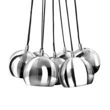 Noa 7 lampa wisząca 7x40W E14 230V chrom / środek biały