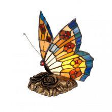 Butterfly tiffany lampa stołowa 1x3W G9