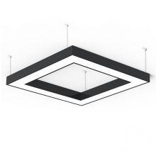 Alberta S-Light Square lampa wisząca 125cm 127,6W LED 230V czarna DIMM