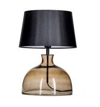 Haga taupe lampka stołowa E27 60W transparentno/brazowa+czarny abazur