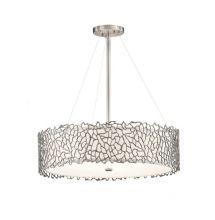 Silver coral lampa wisząca 4x100W E27 230V