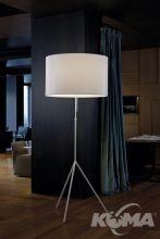 Signora l lampa podłogowa 2x150W E27 d55cm biały/biały