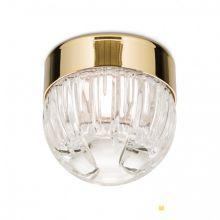 Ball lampa sufitowa pozłacana 24-kartowe złoto ze szkłem kryształ 4,5W led 3000 K