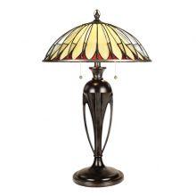 Alahambre lampa stołowa 2 x 60W E27 antyczny brąz