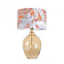 Luzon amber lampa stołowa pomatańczowa/biała 1x60W E27