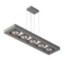 Viterbo lampa wisząca 5x20W G53 AR111 12V srebrny mat struktura