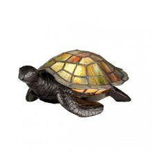 Turtle tiffany lampa stołowa 1x3W G9