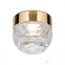 Ball lampa sufitowa pozłacana 24-kartowe złoto ze szkłem kryształ lany 4,5W led 3000 K
