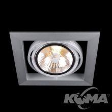 Optique R11 lampa wpuszczana 1x50W G53 12V aluminium/czarna