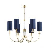 Safira lampa wisząca żyrandol złoty 6x40W E14  -zw-6(z/a)