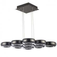 Tytanio 9 lampa wisząca 72W LED 4000K 230V perłowy czarny