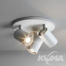 Ascoli reflektory sufitowe 3x50W GU10 22cm biały