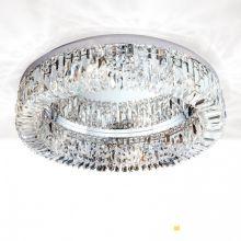Pierścień lampa sufitowa kryształowa chrom śr. 60cm  6x40W E14