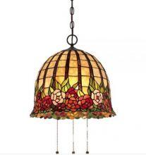 Rosecliffe lampa wisząca styl tiffany brąz cesarski 3x100W E27