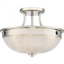 Mantle lampa sufitowa plafon 2x60W E27 230V polerowany nikiel