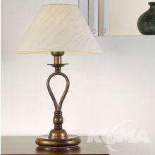 Model 113PE lampa stołowa 1x28W E27 ziemisty brąz/jedwab starzony