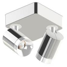 Set Duo plafon ledowy alumninium polerowane/biały  2x11W 2700lm