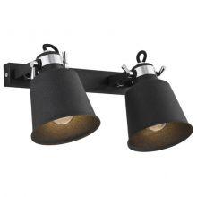 Kongo reflektor 2x60W E27 230V czarny