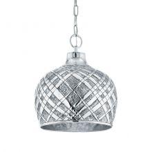 Saltash lampa wisząca 31,5cm 1x60W E27 230V srebrna/chrom