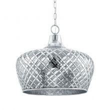 Saltash lampa wisząca 51,5cm 1x60W E27 230V srebrna/chrom